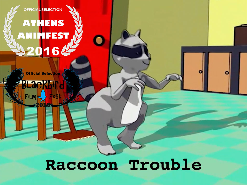 Raccoon Trouble Short Animated Film