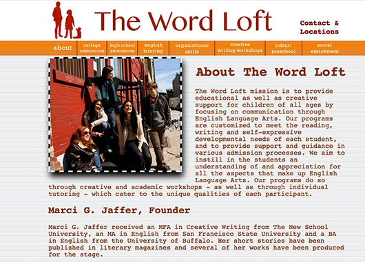 The Word Loft Educational Website